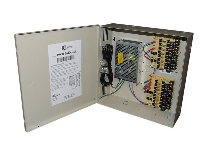 ICRealtime PWR-16DC-8A 16 Channel Fused Power Distribution Box/12Vdc/8 Amps