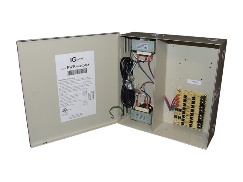 ICRealtime PWR-4AC-8A 4 Channel Fused Power Distribution Box/24Vac/8 Amps