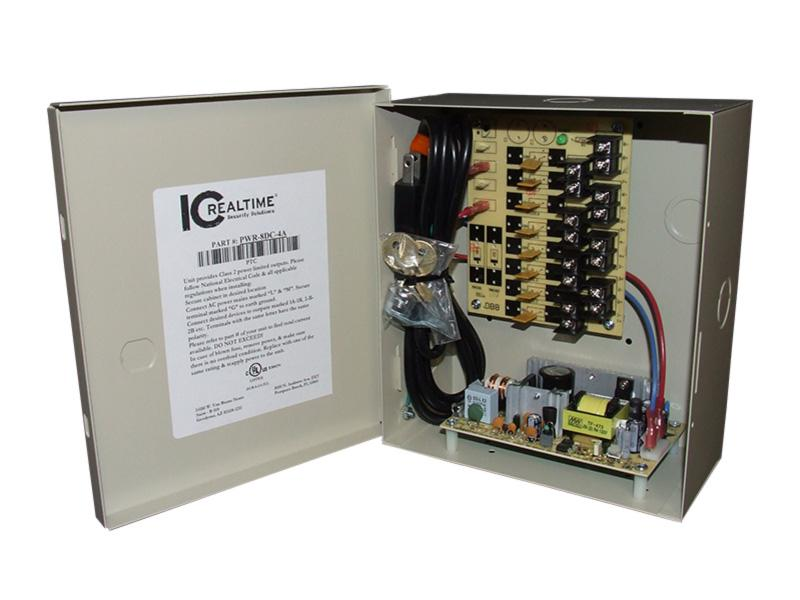 ICRealtime PWR-8DC-4A 8 Channel Fused Power Distribution Box/12Vdc/4 Amps