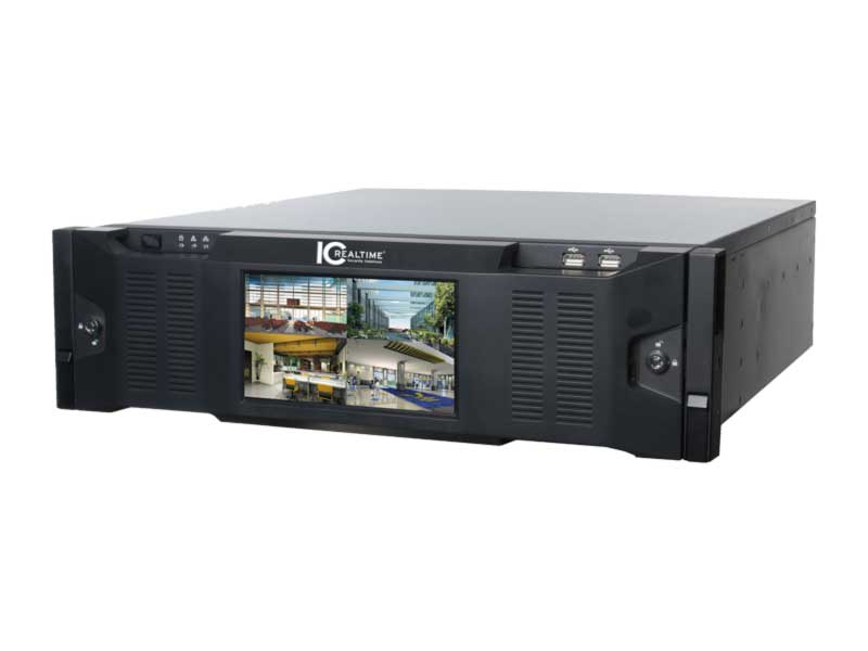 ICRealtime NVR-8128K-DR-8TB 128CH Embedded 4K NVR/Enhanced H.264 Supports up to 12MP/8TB HDD
