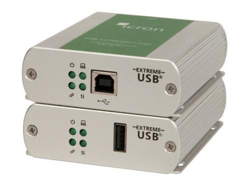 Icron 2301LAN 1-Port USB 2.0 GigE LAN Extender (Transmitter/Receiver) System up to 100m/330ft