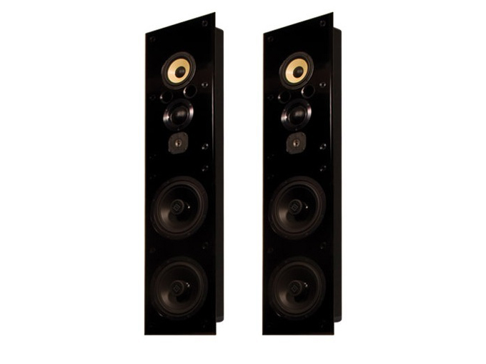 Induction Dynamics ID1.iw 6.5in 4-Way In-Wall Speaker w Dual 10in Subwoofers/Pair
