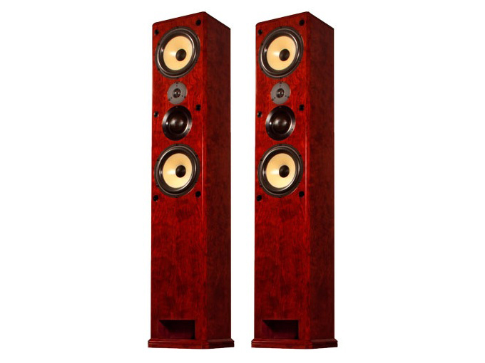 Induction Dynamics S1.8T Dual 8in 3-Way Freestanding Tower Speaker/36Hz - 20kHz/Pair