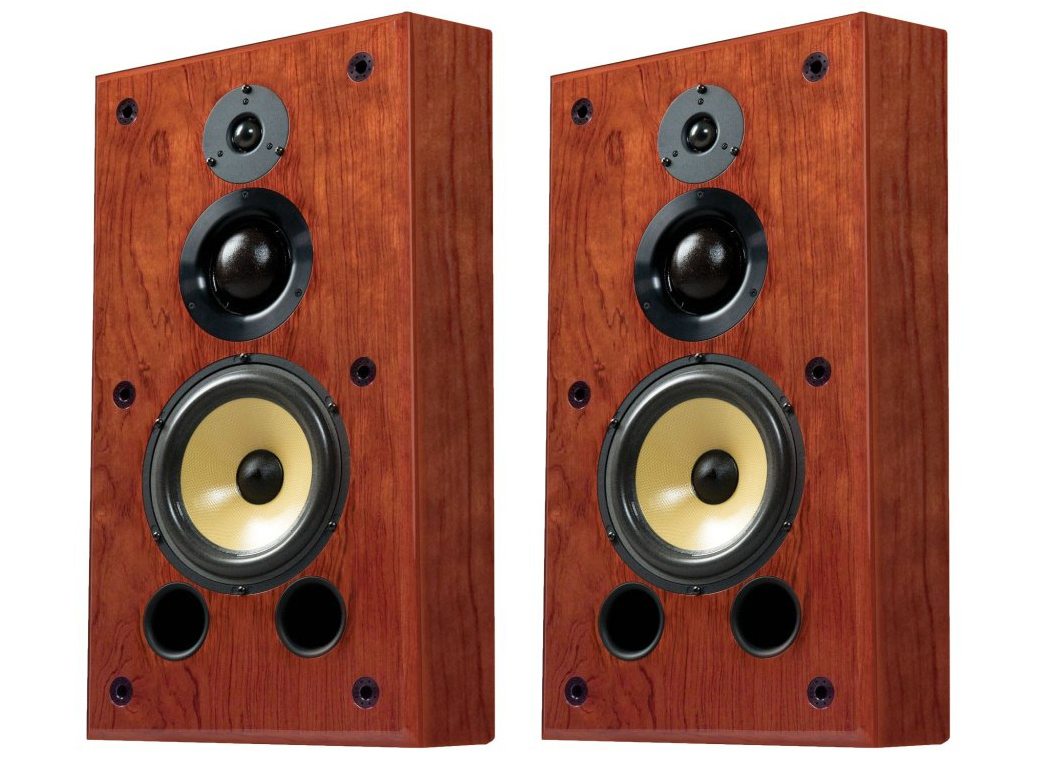 Induction Dynamics S1.8w 8in 3-Way On-Wall Speaker/50 Hz - 20 kHz/Pair