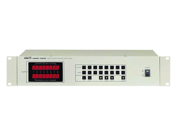 Inter-M VAMS-0808 8x8 A/V (SD Video/Stereo Audio) Matrix Switcher