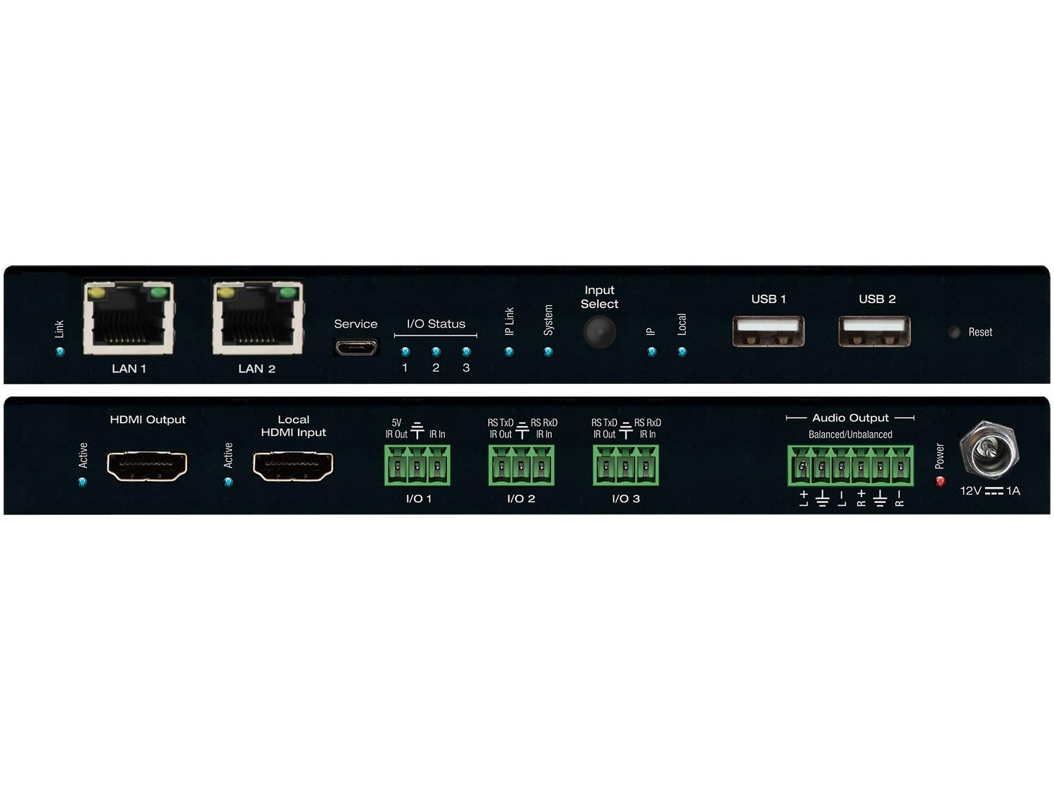 Key Digital KD-IP922DEC Enterprise AV over IP Decoder/4K/2 PoE ports LAN Switch/HDMI/Audio De-Embedding/Video Wall Processing/KVM/USB