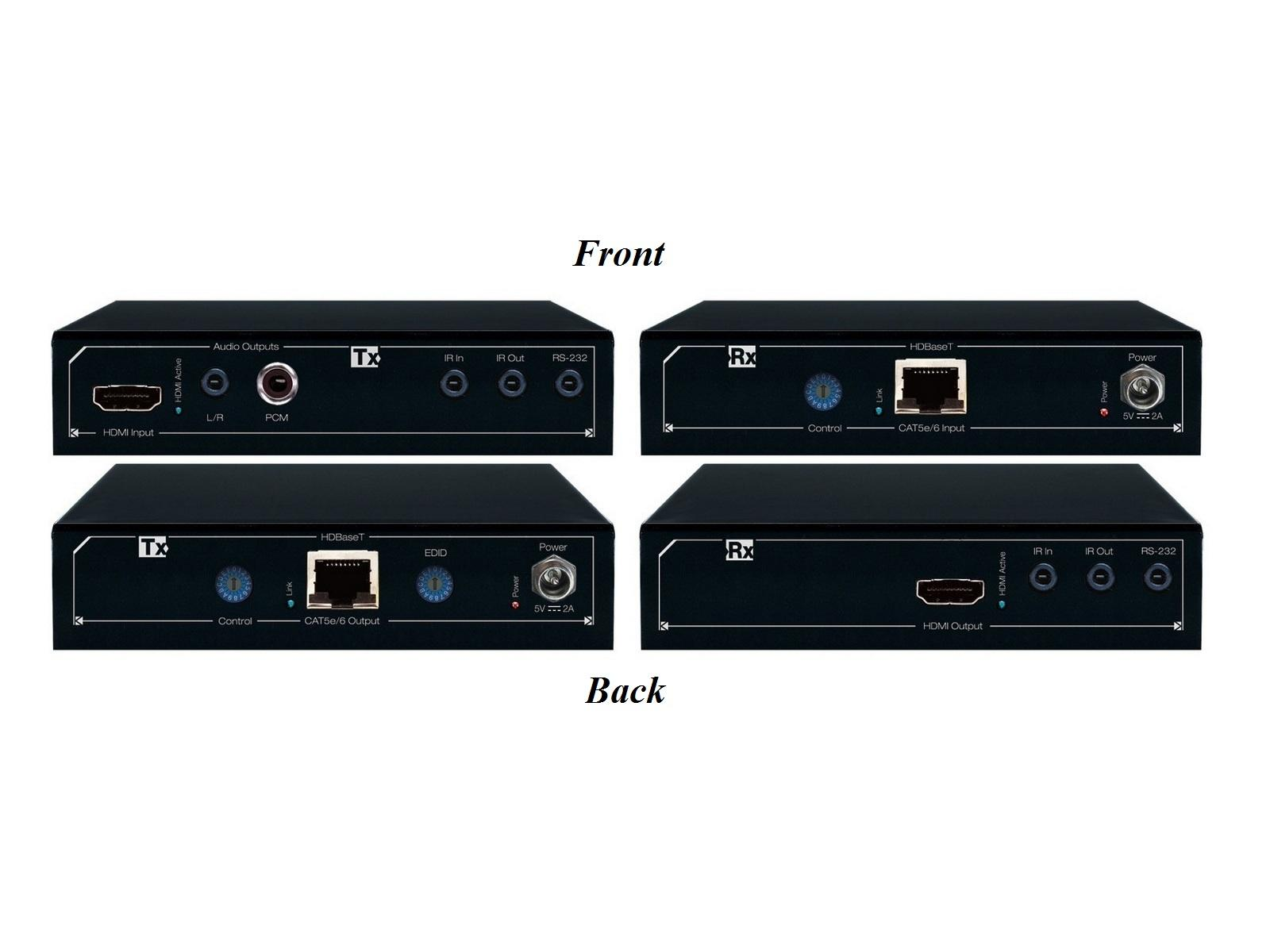 Key Digital KD-X411ProK HDMI via CAT5e/6 Extender (Transmitter/Receiver) Kit with Audio De-Embedding