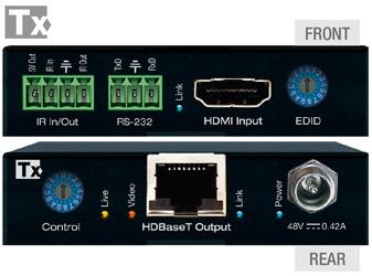 Key Digital KD-X444S 4K/18G HDMI/HDBaseT Extender (Transmitter/Receiver) Kit with RS-232/IR/POH up to 40m