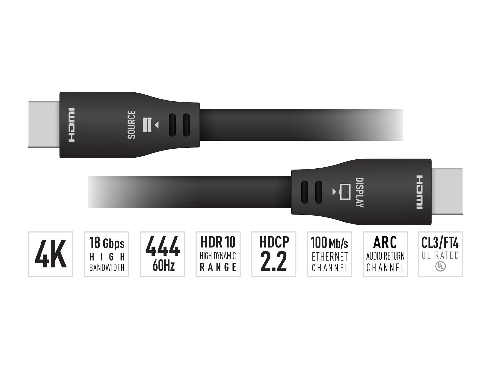 Key Digital KD-Pro50GX 50ft 4K/UHD ARC/24AWG HDMI Cable with High-Speed Ethernet