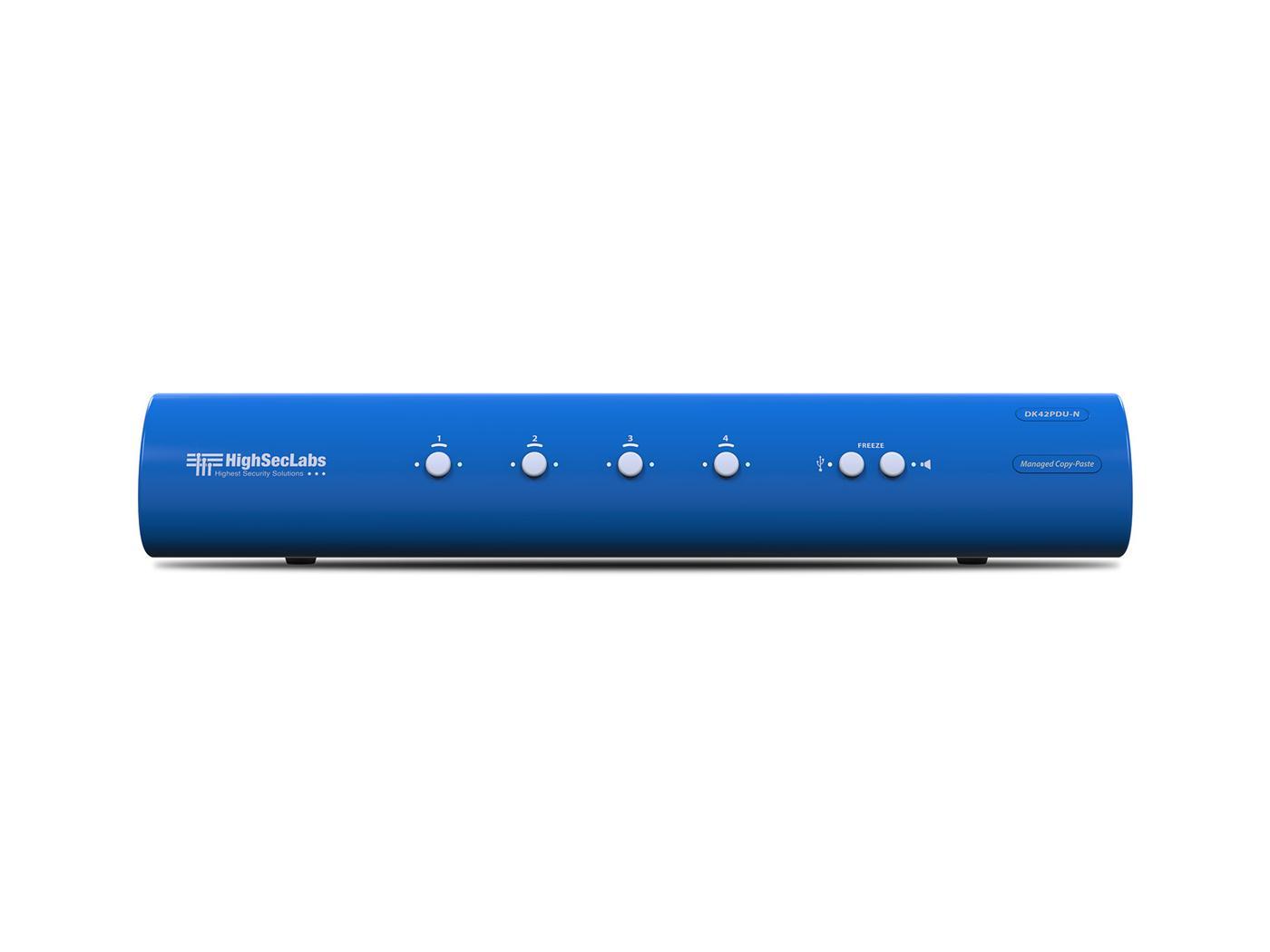 Kramer DK42PDU-N HighSecLabs Dual Head 4-Port 4K30 UHD DVI-I and DisplayPort KVM Switch with sUSB