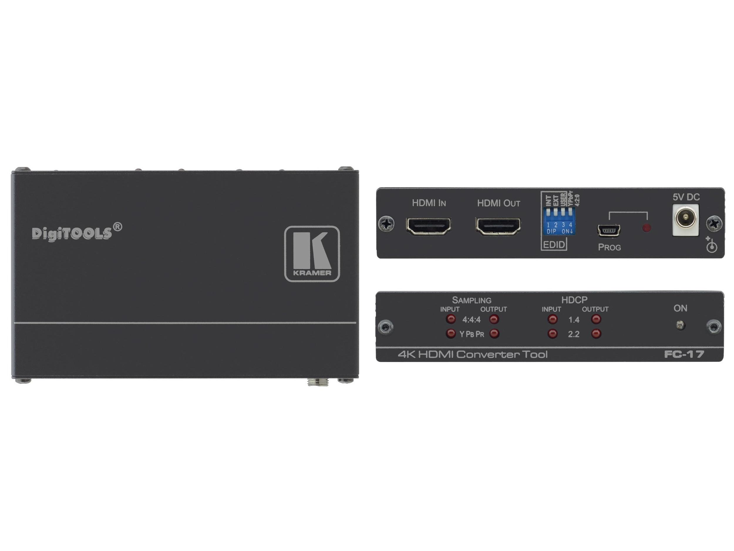 Kramer FC-17 HDMI 4K/60 4x4x4 / 4x2x0 Converter with HDCP 1.4 and 2.2