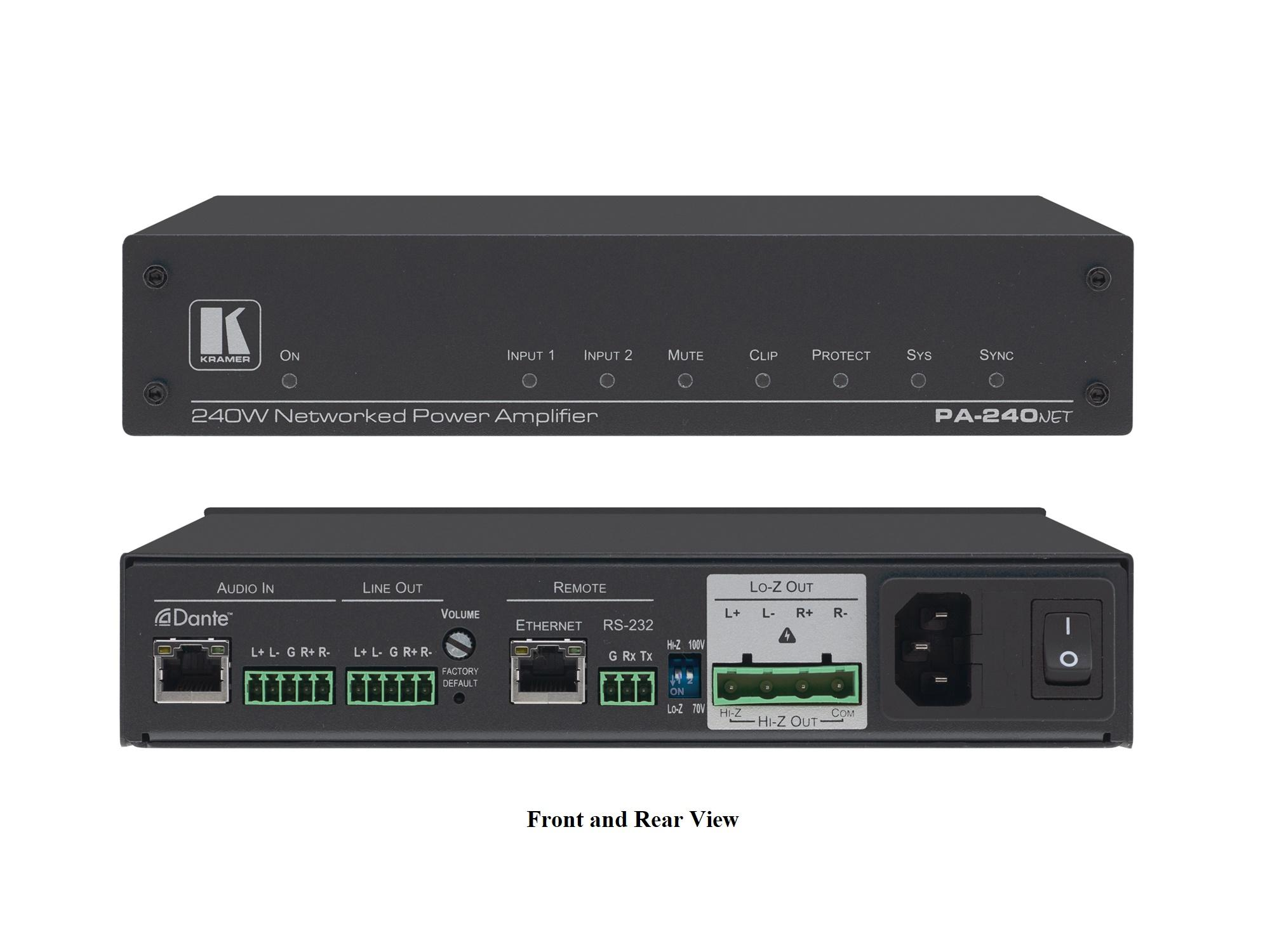 Kramer PA-240Net 240W Networked Power Amplifier