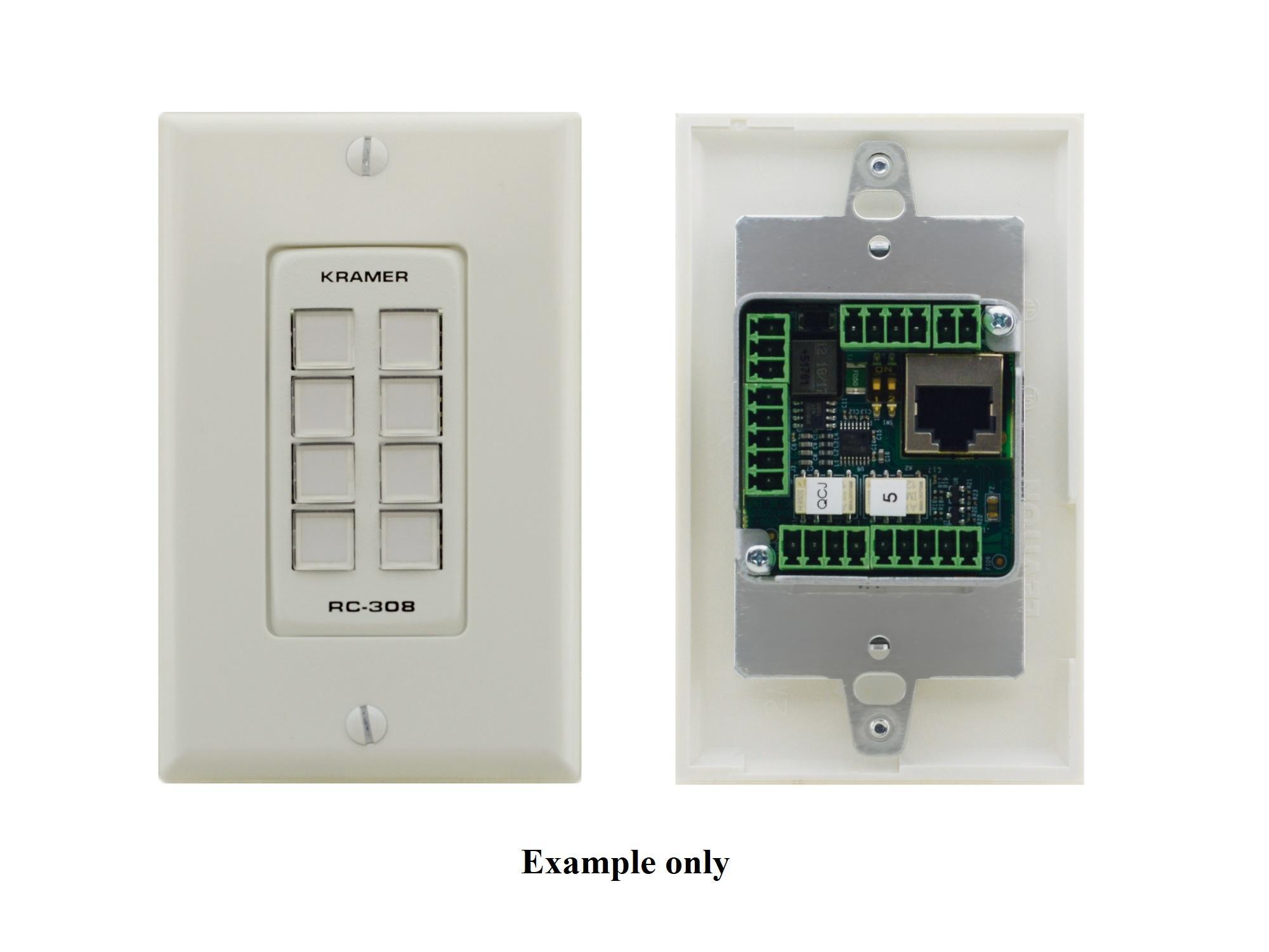 Kramer RC-308/US-D(B) US-D Size 8-Button Control Keypad with Black 1-Gang DECORA Design Frame