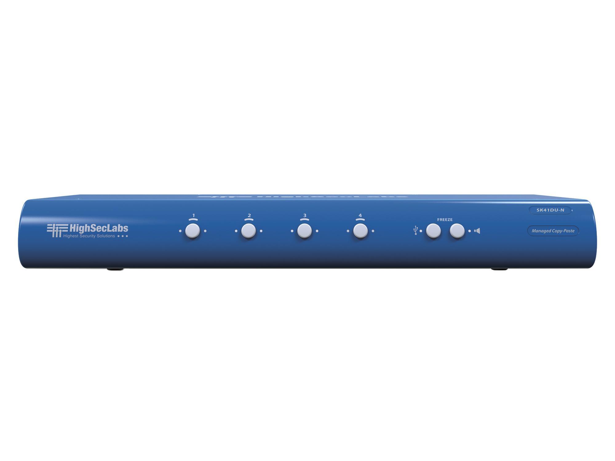 Kramer SK41DU-N HighSecLabs 4-Port 4K30 UHD DVI-I KVM Switch with sUSB