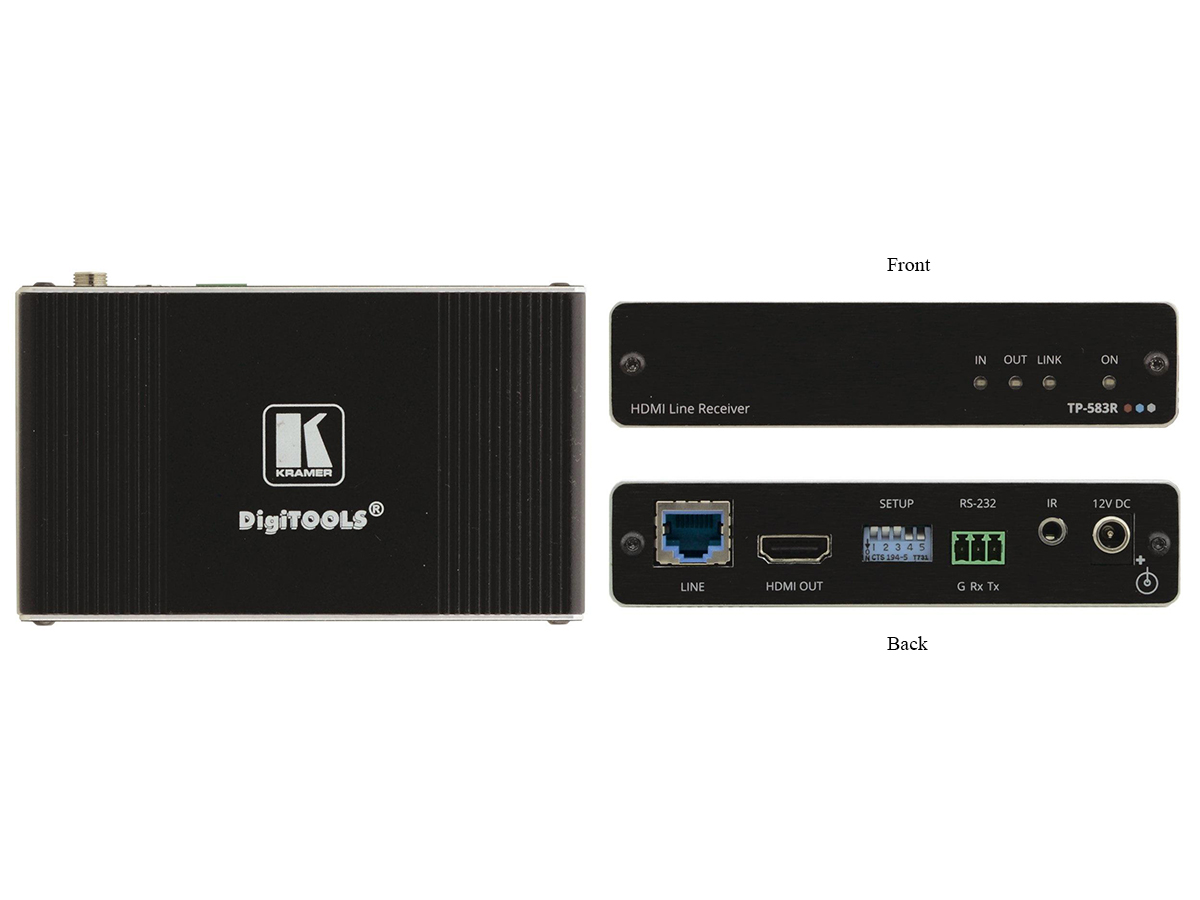 Kramer TP-583R 4K HDR HDMI Extender (Receiver) with RS-232/IR over Long-Reach HDBaseT