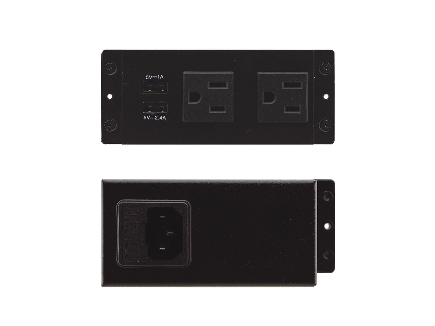 Kramer TS-2UC TBUS Dual socket module with 2 US AC power sockets and 2 USB charging ports