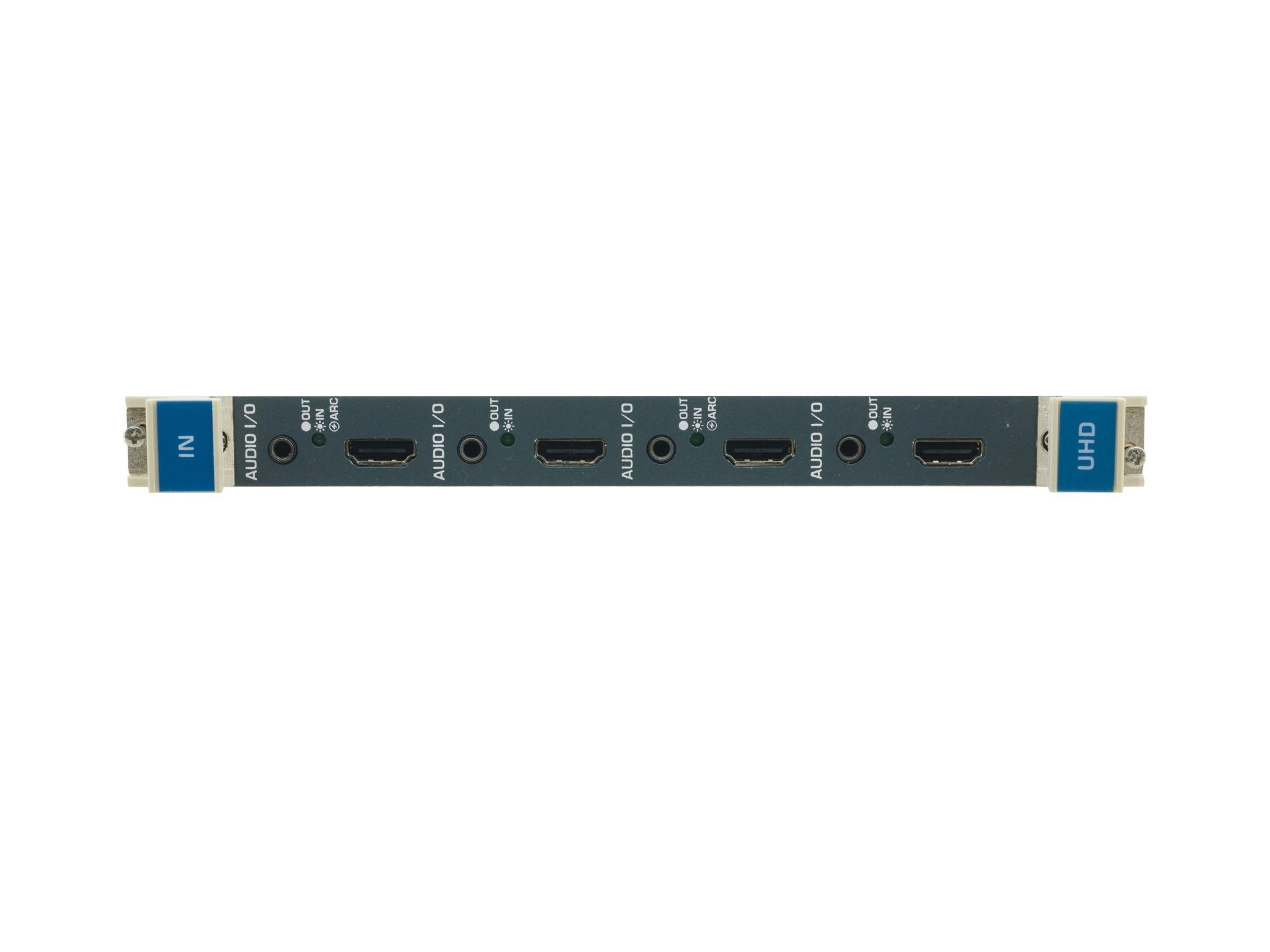 Kramer UHDA-IN4-F32 4-Ch 4K60 4x2x0 HDMI Input Card w Selectable Embedded/De-embedded or ARC Analog Audio