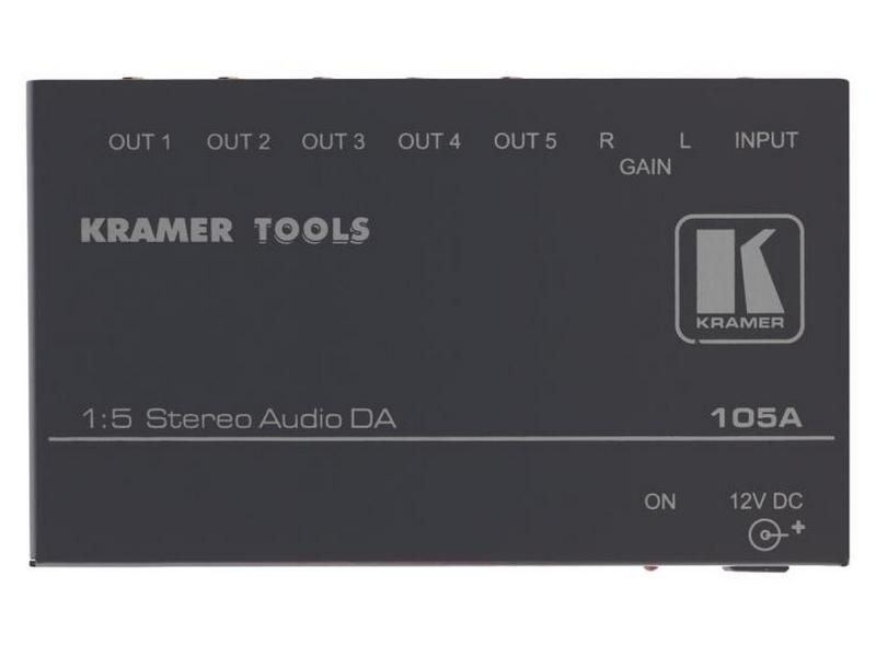 Kramer 105A 1x5 Stereo Audio Distribution Amplifier