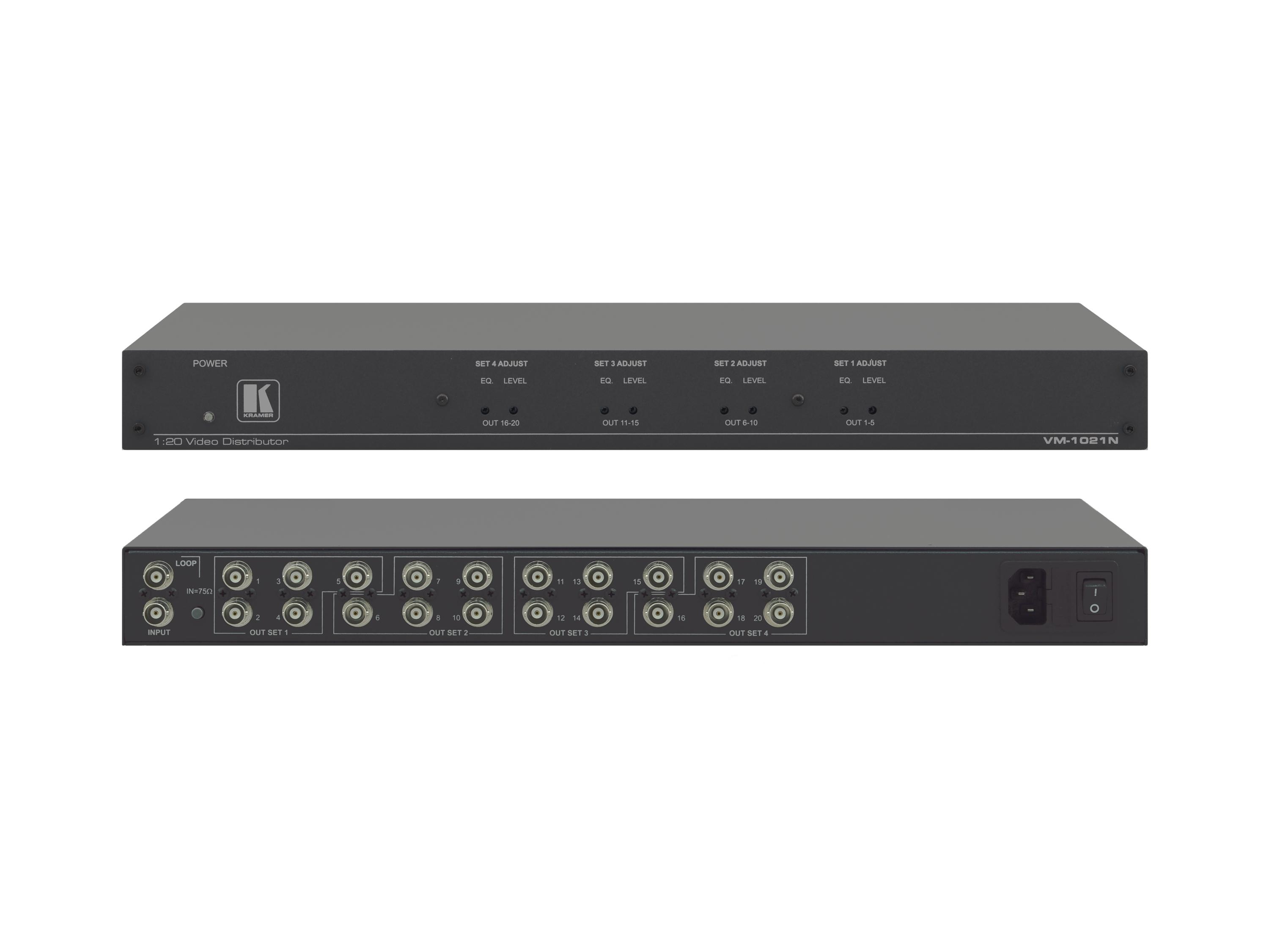 Kramer VM-1021N 1x20 Composite/SDI Video Distribution Amplifier