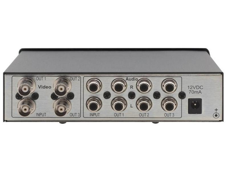 Kramer VM-30AVB 1x3 Composite Video and Stereo Audio Distribution Amplifier
