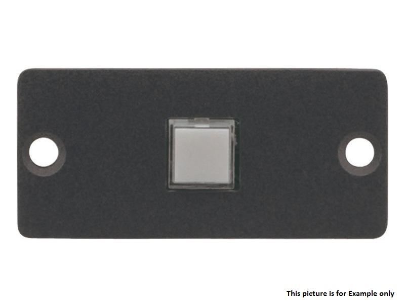 Kramer RC-10TB(B) Wall Plate Insert - 1 Button Contact Closure Switch/Black