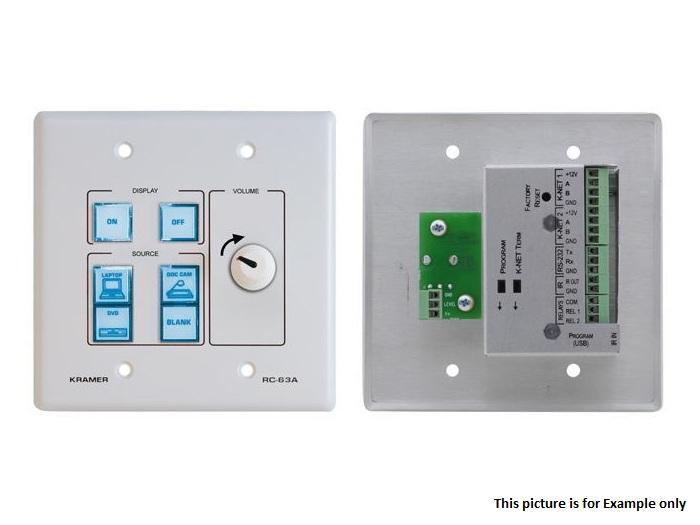 Kramer RC-63A(B) 6-Button Room Controller w Analog Volume Knob/Black