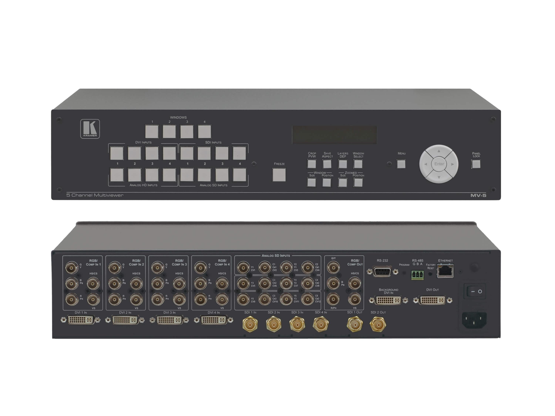 Kramer MV-5 5-Channel DVI/SDI/RGB/Component Multiviewer