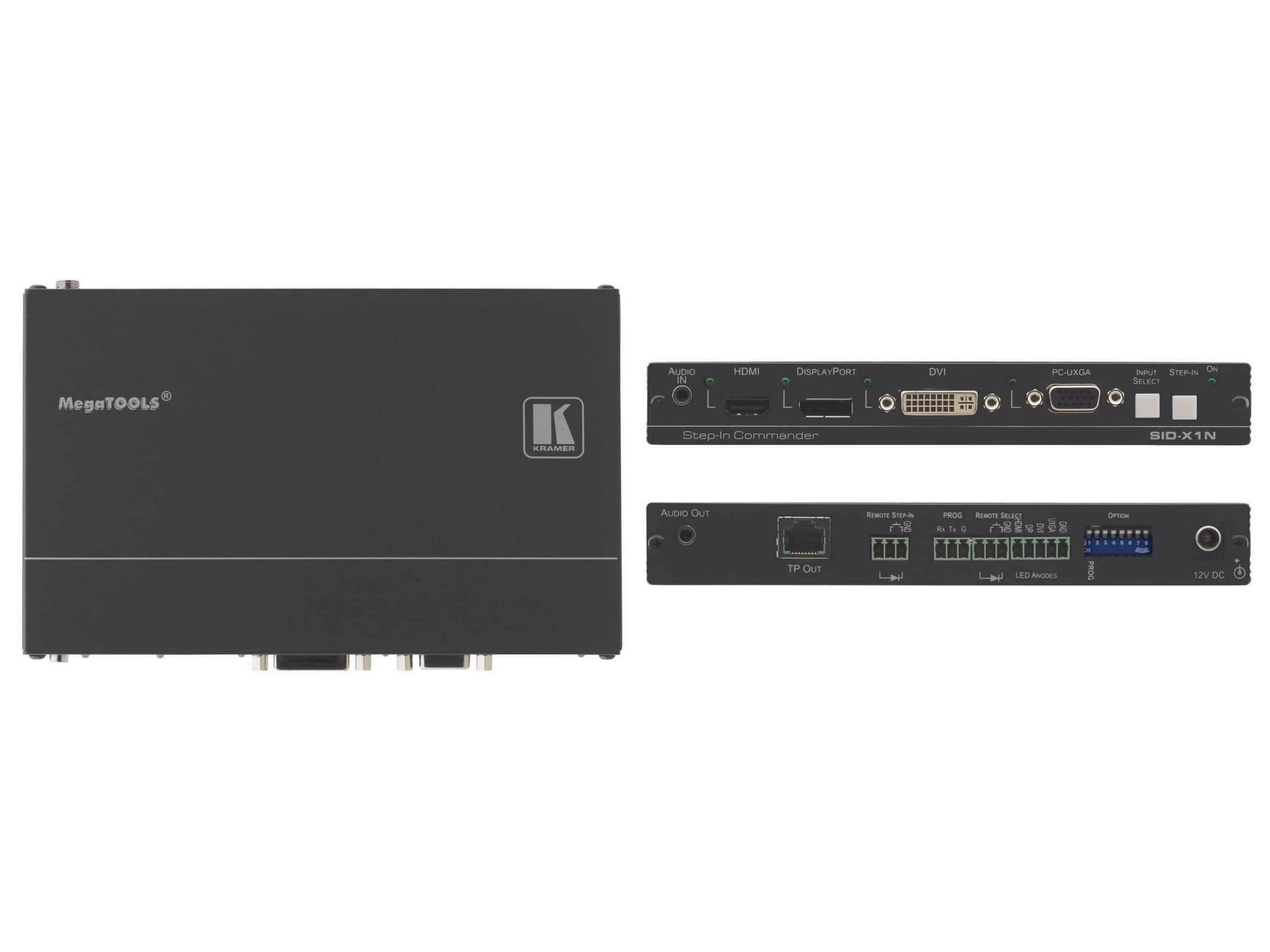 Kramer SID-X1N 4Input Multi Format Video over DGKat Extender (Transmitter) and Step In Commander