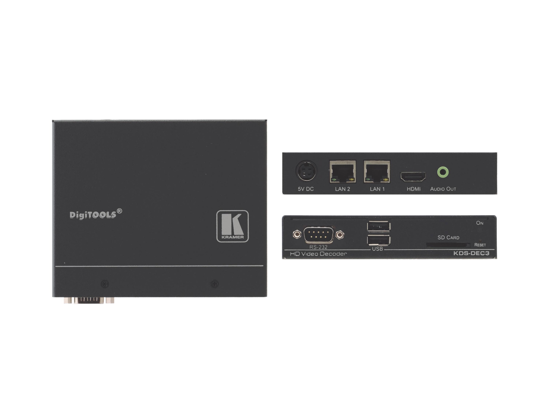 Kramer KDS-DEC3 H.264 signals up to 1080p60 Decoder