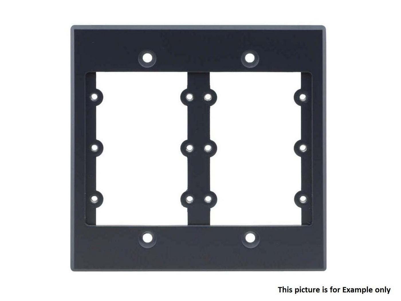 Kramer FRAME-2G(B) 2 Gang Frame/Holds 6 Wall Plate Inserts/Black