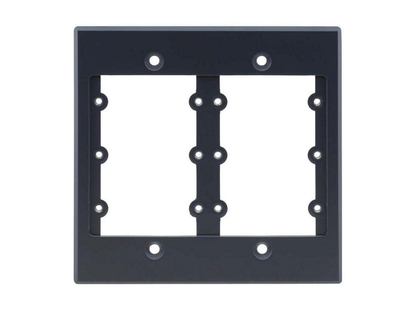 Kramer FRAME-2G(G) 2 Gang Frame/Holds 6 Wall Plate Inserts/Gray