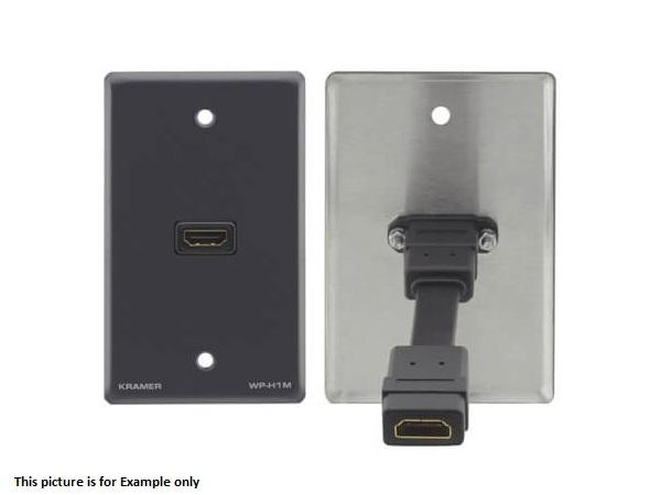 Kramer WP-H1M(W) HDMI (F) to HDMI (F) Wall Plate/White
