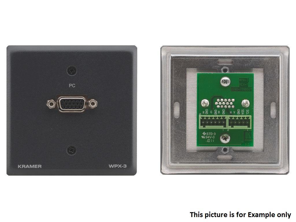 Kramer WPX-3(B) Passive Wall Plate/VGA 15-pin HD/Black