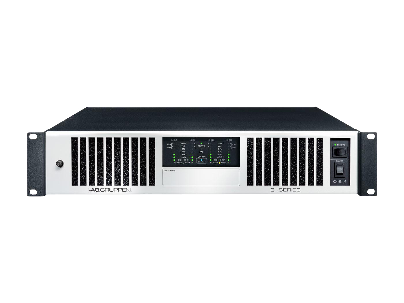 Lab.gruppen C 48:4 230E 4800W 4-Ch Amplifier w NomadLink Network Monitoring/Dedicated Control for Install Applications/230E
