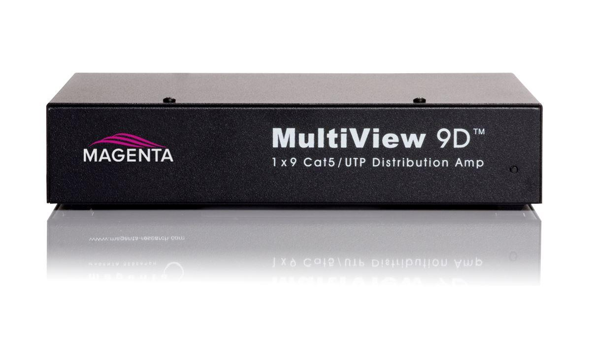 Magenta Research 221R1029-01 MultiView 9D 1x9 CAT5 Distribution Amplifier w PS