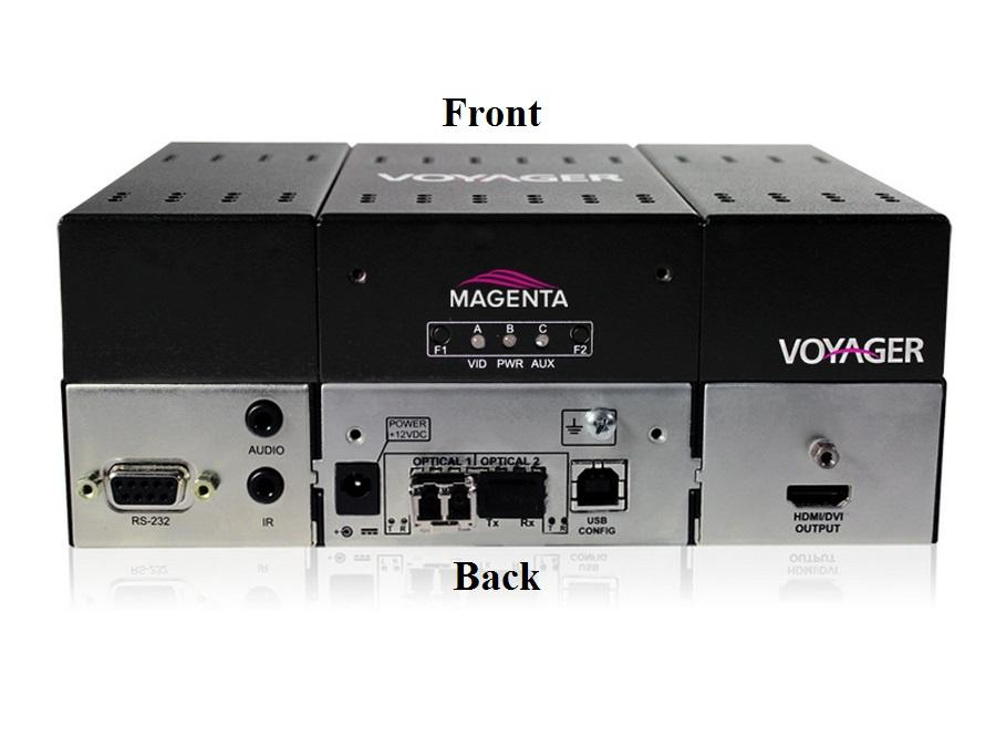 Magenta Research 2320017-01 4-Port Extender (Receiver) with HDMI (HDCP)/Audio/RS-232/Two MMF SFP