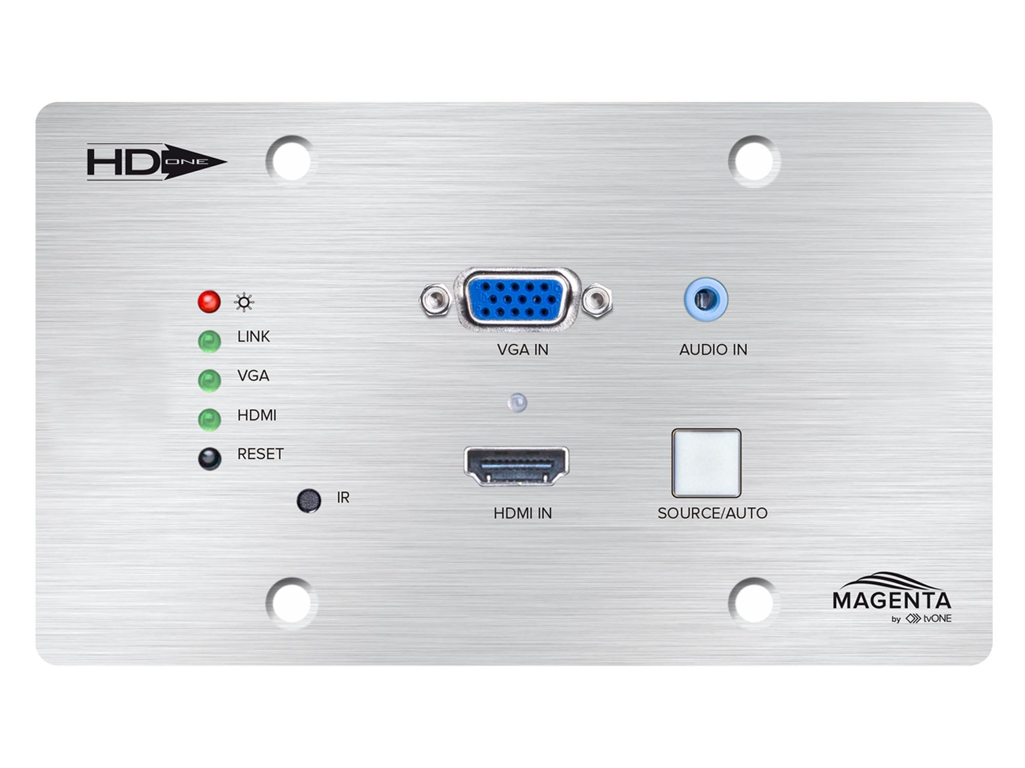 Magenta Research MG-WP-611-EU HD-One HDMI/VGA/Audio/USB Wall Plate Extender (Transmitter)