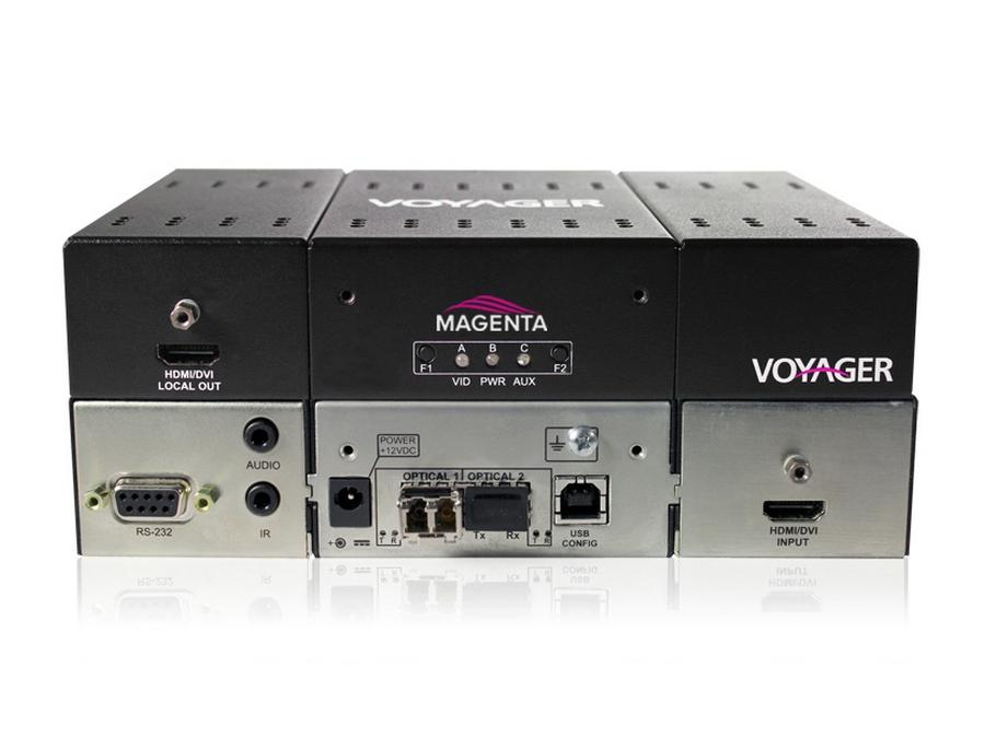Magenta Research 2310016-01 4-p Extender (Transmitter) with HDMI (HDCP)/Audio/RS-232/Two MMF SFP Incl