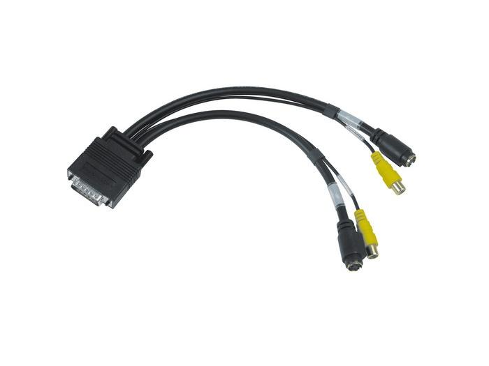 Matrox CAB-L60-2XTVF 1ft/0.3m LFH60 to Dual Composite S-Video TV Adapter Cable/Black