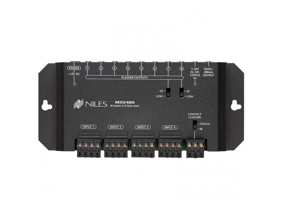 Niles FG01004 IR Repeater Main System Unit for Single Zone/Four Input/Eight Flasher Out