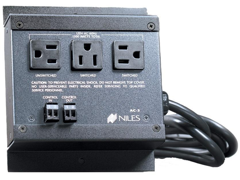 Niles AC-3 Voltage-Triggered AC Power Strip (3 AC Outlets)