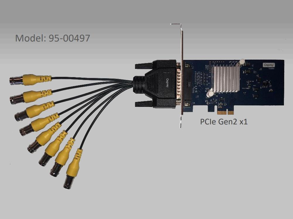 Osprey 95-00497 480e 8x Composite Analog PCI Express Capture Card