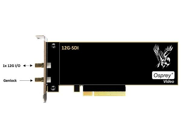 Osprey 95-00513 Single 12G SDI I/O Genlock Capture Card (1215)