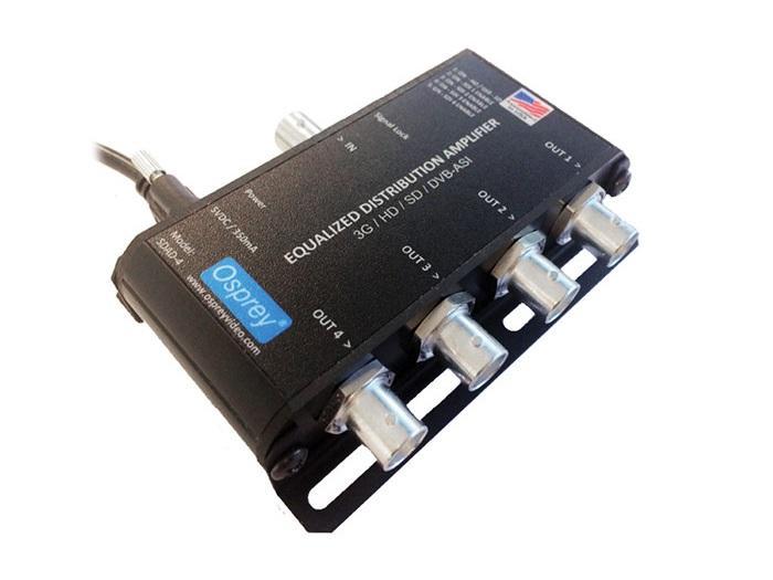 Osprey 97-11004 1x4 Equalized 3G/HD/SD-SDI SDAD-4 Distribution Amplifier with DVB-ASI