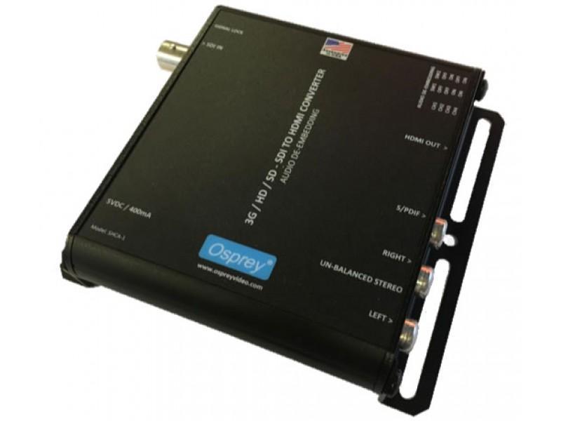 Osprey 97-21211 3G SDI to HDMI SHCA-1 Converter with Audio De-Embedding
