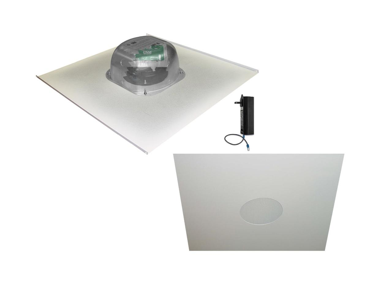 OWI 2X2AMP-CAT62 6 inch Integratable Amplified In Ceiling Speakers on a 2x2 Metal Tile (Two Сombination)