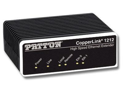 Patton CL1212/EUI-2PK High Speed CopperLink Ethernet Extender (Local/Remote) Kit/RJ45 Line