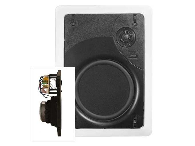 Phase Technology CI60 X 6.5in 2-Way In-Wall w Micro-Flange Grille/40Hz-22kHz