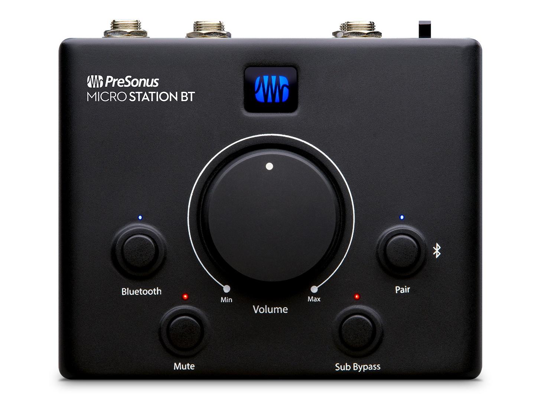 PreSonus MicroStation BT Microstation BT 2.1 Monitor Controller with Bluetooth Connectivity (Black)