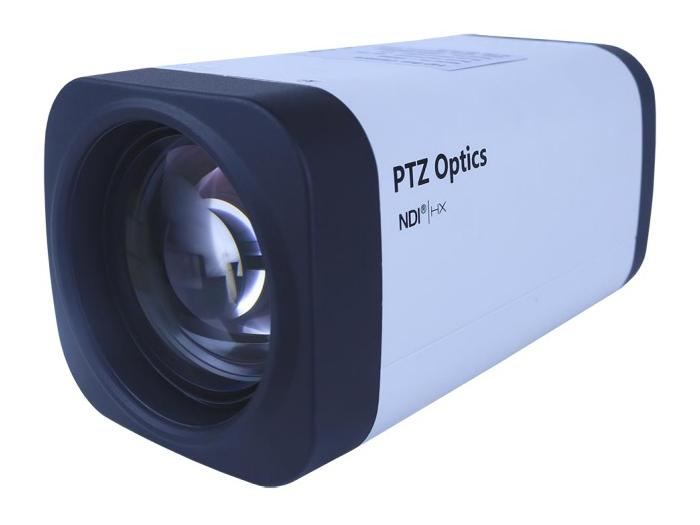 PTZOptics PT12X-NDI-ZCAM 12x 1080p NDI/HX HD-SDI Box Camera/3.5mm-42.3mm Lens/White